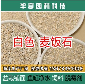 半夏园林硬质白麦饭石多肉种植铺面拌土营养土净水处理饲料脱霉剂