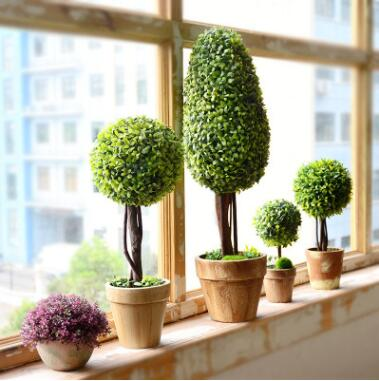 田园家居仿真植物花球盆栽小盆景摆设室内客厅假花绿植装饰品摆件