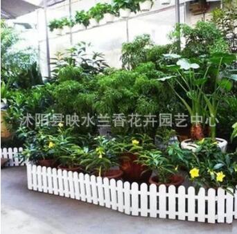 欧式白色塑料栅栏 围栏 篱笆 可折叠 装饰田园风格