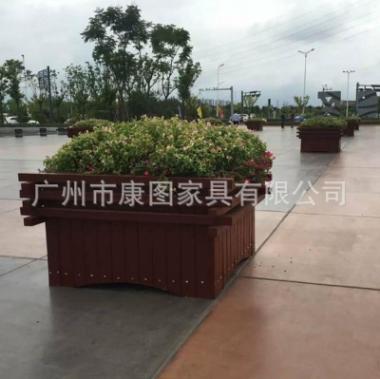 商业城景观花池 室外防腐木花箱 道路塑木花箱PVC花坛