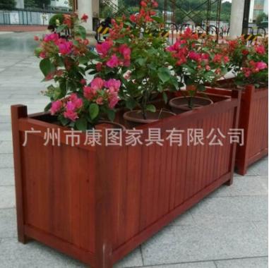 厂家直销户外花箱 移动实木花箱 公园景观花坛园林防腐木花盆