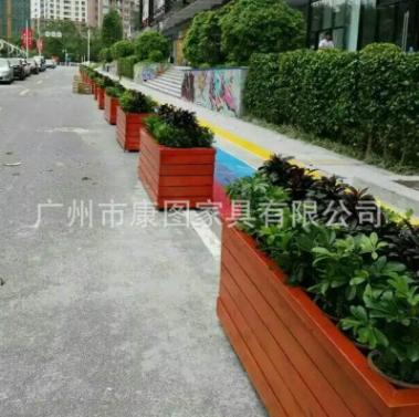 园林景观绿化木质花箱 市政工程防腐木花坛 阻隔式花箱花盆