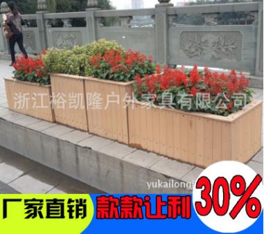 塑木方形花坛 道路景观隔离木塑花箱 厂家直销 量大优惠