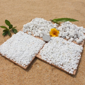 纯白色水磨石头厂房仓库地面专用水磨石头全型号可加工订做