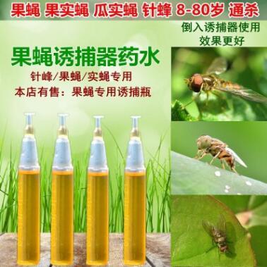 果蝇引诱剂药水果蝇诱捕器进口原液分装不释稀果园菜地针蜂引诱剂