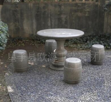 批发供应花岗岩 石桌石椅(granite table)
