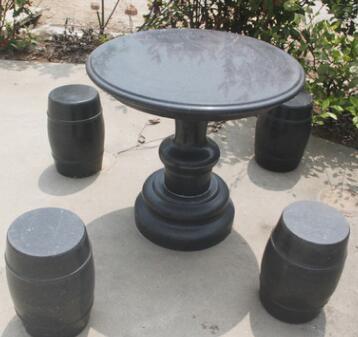 户外专用大理石桌子 广场休闲大理石桌 厂家直销黑石桌 平雕石桌