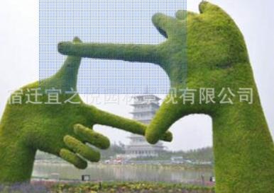 绿雕定制园林景观造型人造动物雕塑仿真动物人物造型绿雕户外装饰