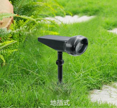 太阳能灯4LED一体式射灯户外庭院灯装饰地插草坪灯新品亚马逊爆款