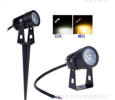 亚马逊专供 LED户外灯 1W 射灯3W大功率地插灯花园景观灯