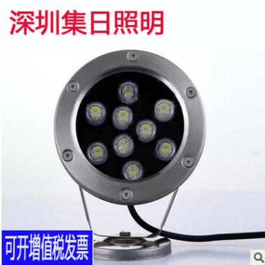 大功率LED 水底灯12W水池灯七彩灯12v24v