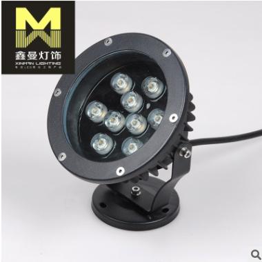 厂家热销大功率9WLED射灯 户外景观亮化工程LED射灯 led投光灯