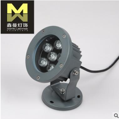 led射灯 户外大功率7w防水投光灯 庭院景观彩光照明射灯厂家批发