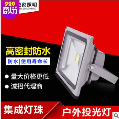 LED投射灯 投光灯led 投光灯100W 户外照明防水led泛光灯厂家直销