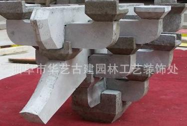 供应山东斗拱订做厂家水泥斗拱木质斗拱