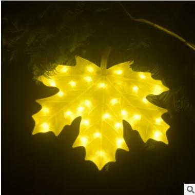 LED枫叶灯 LED亮化造型灯笑脸挂件 迎春灯饰挂件银杏叶彩灯灯串