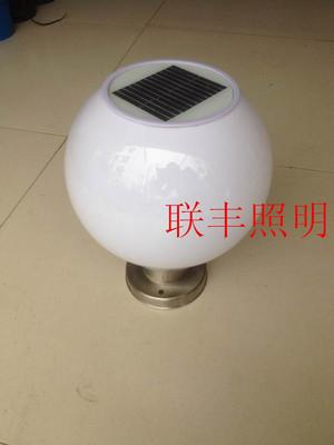 太阳能柱头灯LED防水球形围墙灯亚克力圆球灯小区别墅柱头大门灯