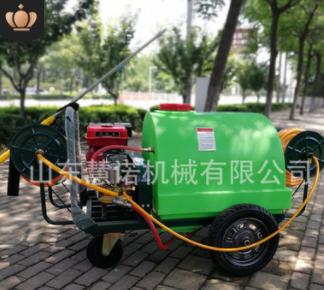 低价直供手推式汽油喷雾器300L高压喷雾机四轮打药机