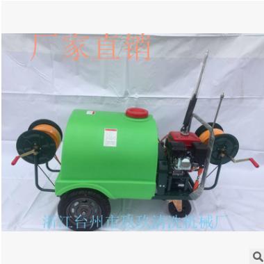 联龙170汽油机动力新款300升手推式打药车60型泵农用高压喷雾器