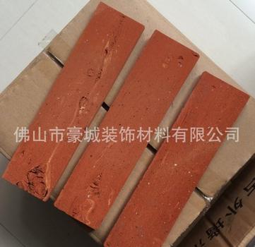 仿古清水红砖片 仿古外墙小红砖 全粘土 6X24或订做其他规格