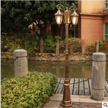 欧式太阳能led复古庭院灯新款小区湖边户外景观灯 别墅广场路灯