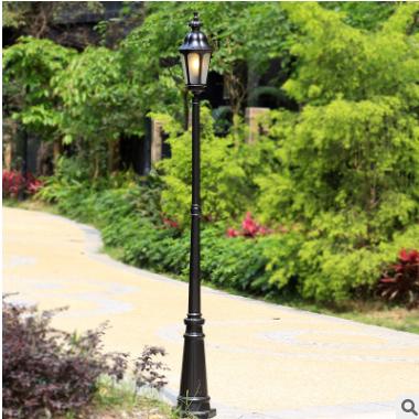 庭院路灯欧式室外小区别墅花园景观灯户外公园防水防锈单头路灯铝