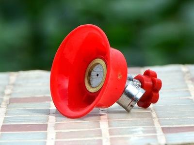 电动农用喷雾器打药机配件专用超细雾化不锈钢单喷头可调节红喷头