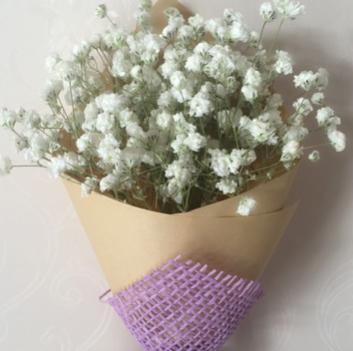 批发天然白色满天星干花礼盒装花束送朋友闺蜜女友生日礼物包邮