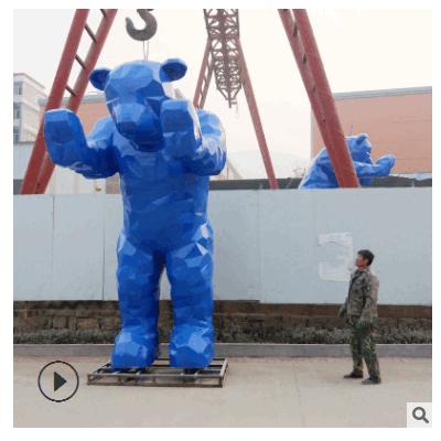 玻璃钢大熊雕塑建筑物门口大型标志雕塑户外景观美陈雕塑