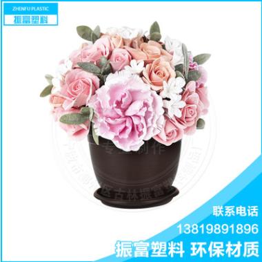 厂家直销 花盆 圆形花盆 塑料两层花盆 简约花盆
