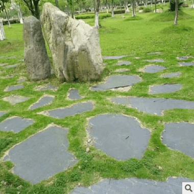厂家直销汀步板花园装饰铺路圆石板青防滑踏步石板石板地砖批发
