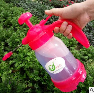批发喷壶 高压加厚手持喷雾器 透明长嘴防爆型浇花瓶1.2L气压喷壶