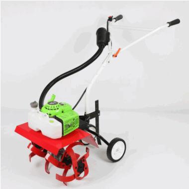 批发830二冲小型微耕机 低油耗手推式汽油打草机 推车式割灌机