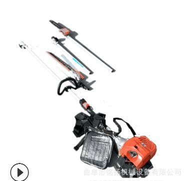 粗枝伸缩杆多功能宽带修枝剪机 高空修枝伐木锯操作视频