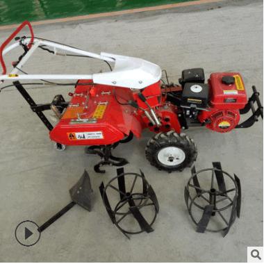 小型自走式果园菜园微耕机 汽油起垄开沟机 新型耕地机配件