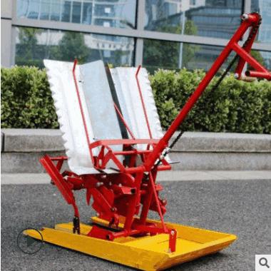 常青机械人力水稻插秧机后退式两行水稻插秧机操作简单手摇插秧机