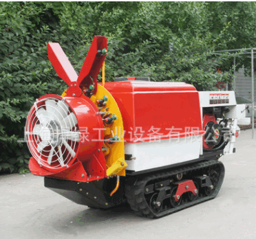 玛雅迷你履带山地果园遥控风送柴油喷雾机 林业果树喷雾器