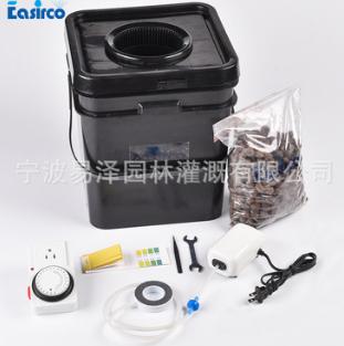 单孔20L方形培养桶套装水培桶系统 无土栽培种植桶