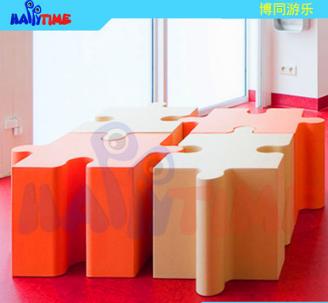 厂家直销创意拼图玻璃钢座椅,商场美陈商业创意座椅设计定制