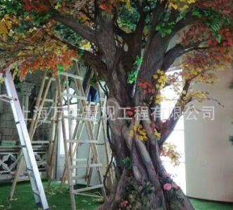 厂家直销塑料假树仿真树 客厅家居装饰仿真树水泥树