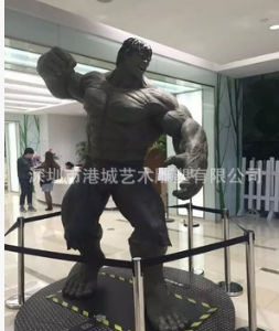 高品质玻璃钢机器人外壳加工 电影道具英雄人物绿巨人雕塑定制