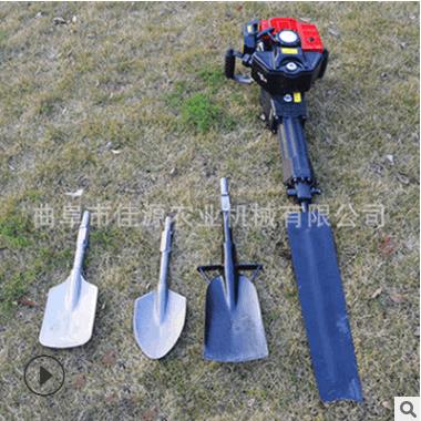 移苗移树断根汽油铲头式挖树机 功率高链条式挖树机 手提挖树机