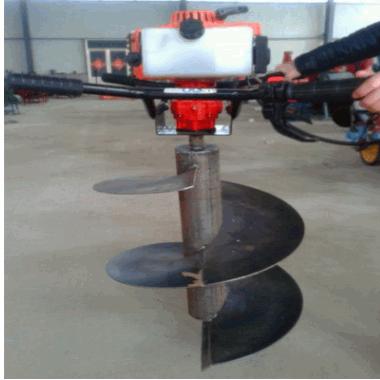 妇女也可操作植树挖坑机 打孔机地钻钻头 农用种树挖坑机