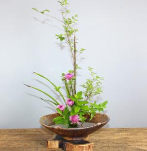 手工紫砂粗陶花器 花盆 桌面水培盆 日式创意插花 茶室禅意插花器