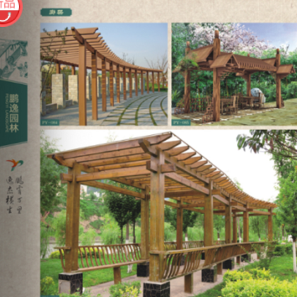 加工定制景观防腐木藤架
