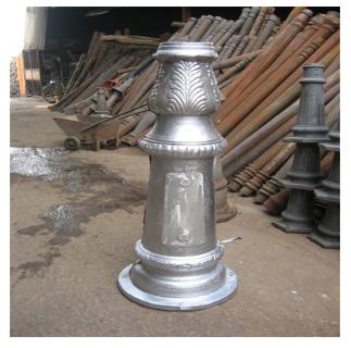 铸铝铸铁底座 庭院灯翻砂铝配件 柱头灯配件灯具铸铝铸铁底座