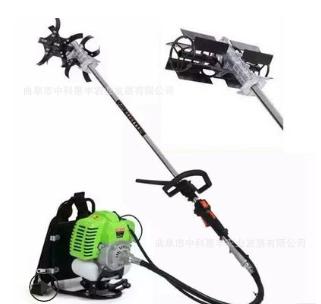 新款小型背负式汽油动力除草机多功能除草旋耕打草收割一体机械