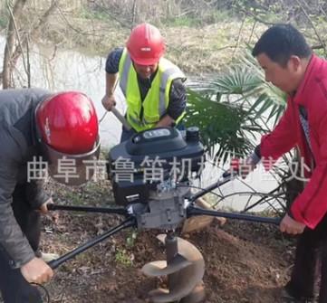 沧州小型轻便式挖坑机 林业种树打孔机 地转挖坑机价格