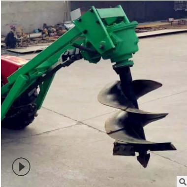 新型园林种植挖坑机 大马力高效率自走式 篱笆园舍打桩挖坑机现货
