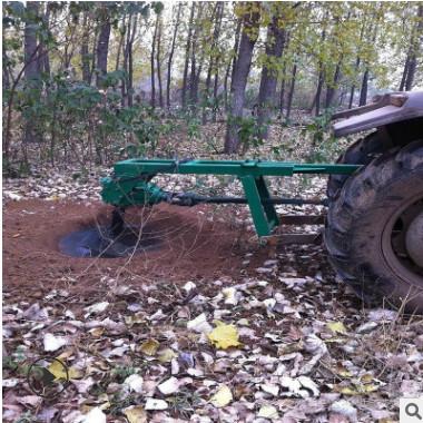 手推链条框架式植树挖坑机 汽油二冲程电线杆打洞机 农用挖坑机